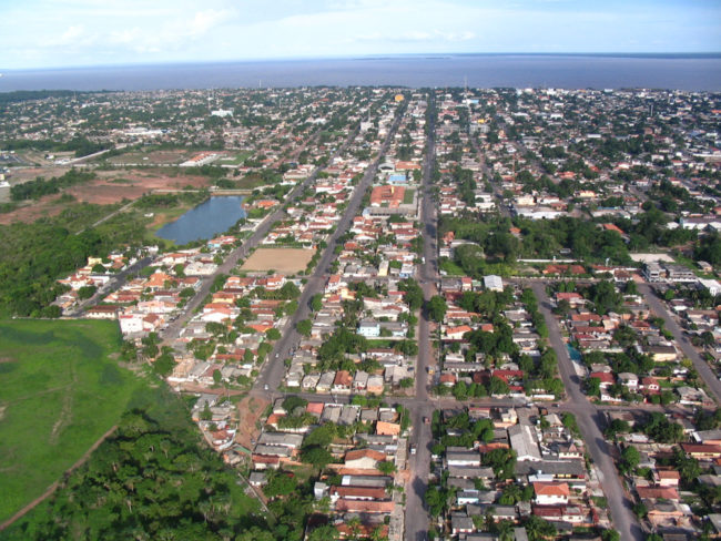 Vista aérea do estado Macapá